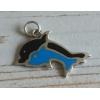 Dolfijnhanger Zilver / Blauw