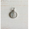 Maria / Jezus Hanger in Zilver Rond 12