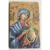 Bidprentje met Gebed en Penning   Onze Lieve Vrouw van de Altijddurende Bijstand