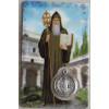 Bidprentje met Gebed en Penning Heilige Benedictus