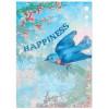 Wenskaart -  Happiness - Birthday