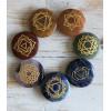 Chakra Edelstenen set platte stenen met chakra symbolen