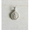 Maria / Jezus Hanger in Zilver Zeskant
